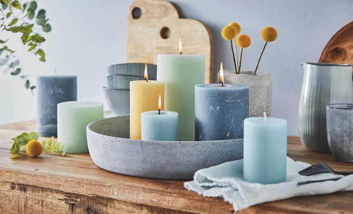 Engels Kerzen - Farbauswahl Kerzen - Blau