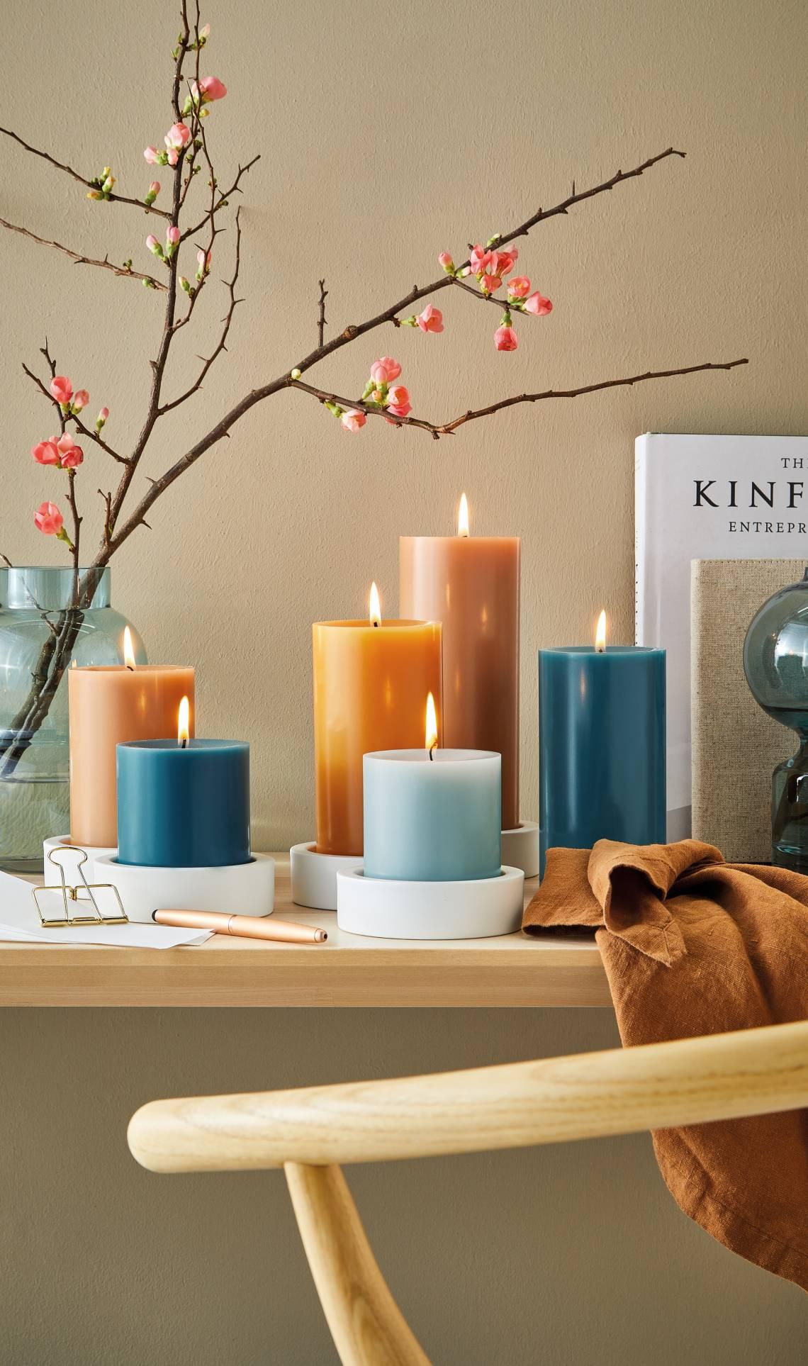 Engels Kerzen - Farbauswahl Kerzen - Blau, Brauntöne
