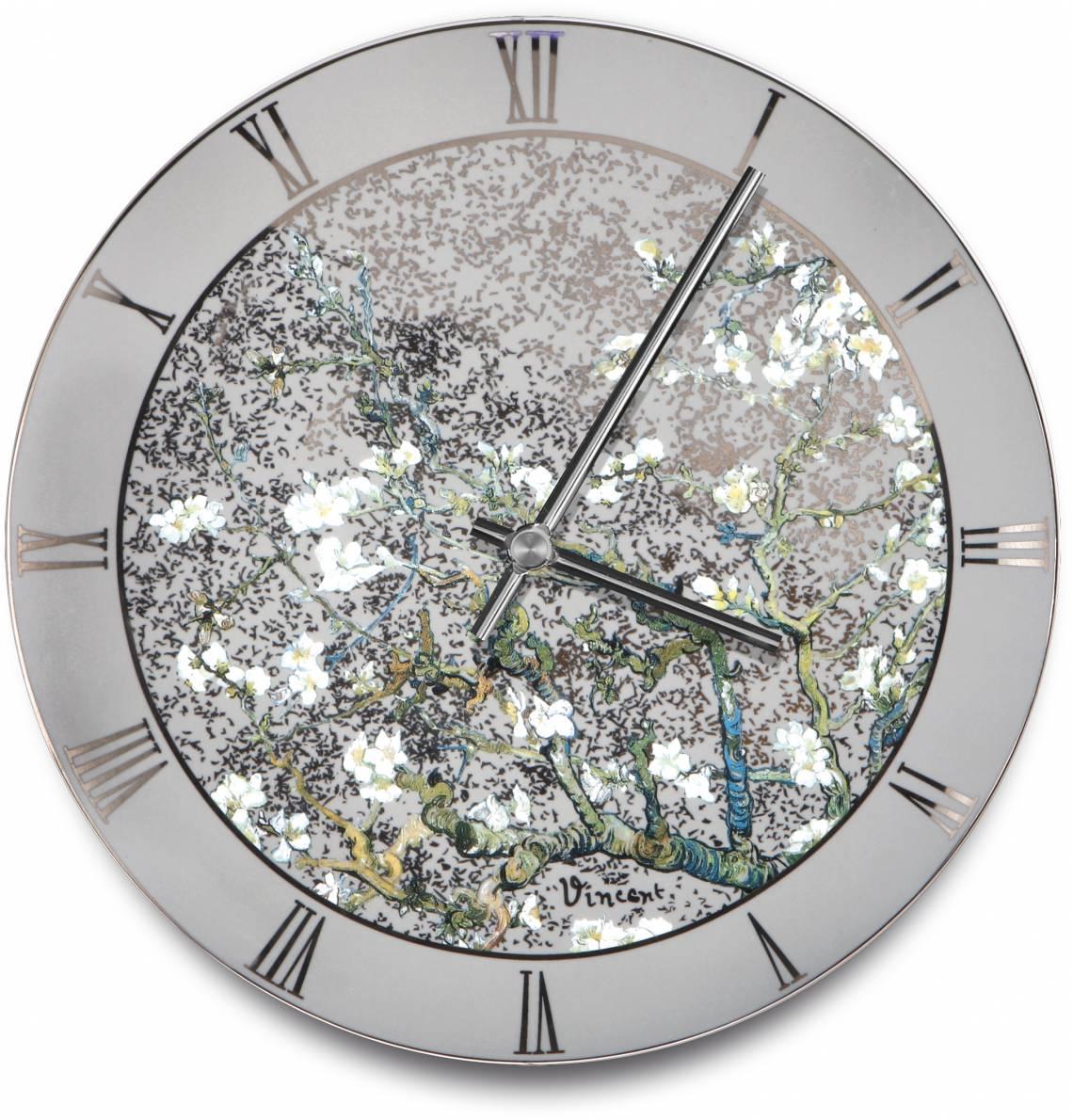 Artis Orbis - van Gogh - Mandelbaum silber - Wanduhr Ø 31 cm