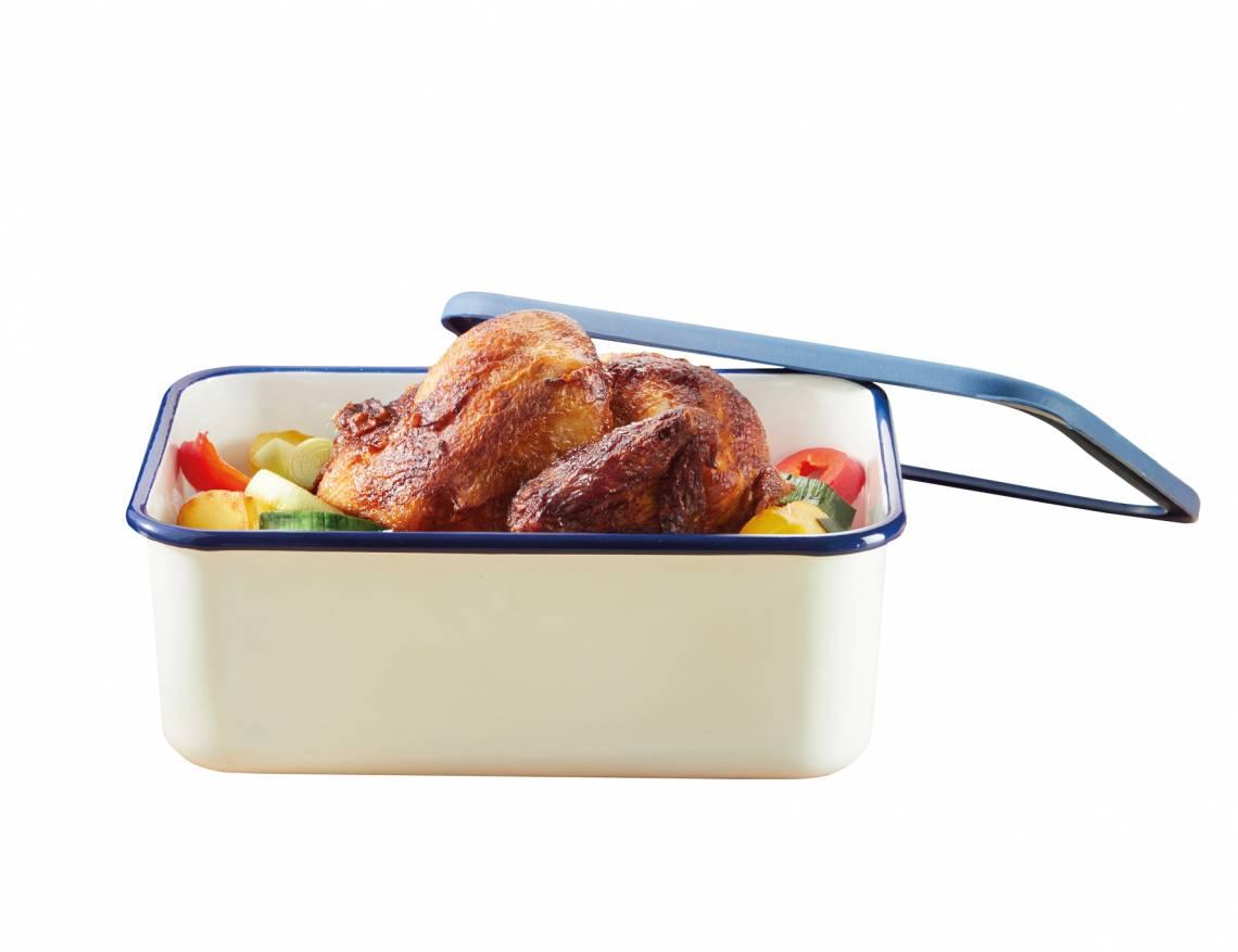 Honeyware - Frischhaltedose aus Emaille 1,9 Liter - Braten