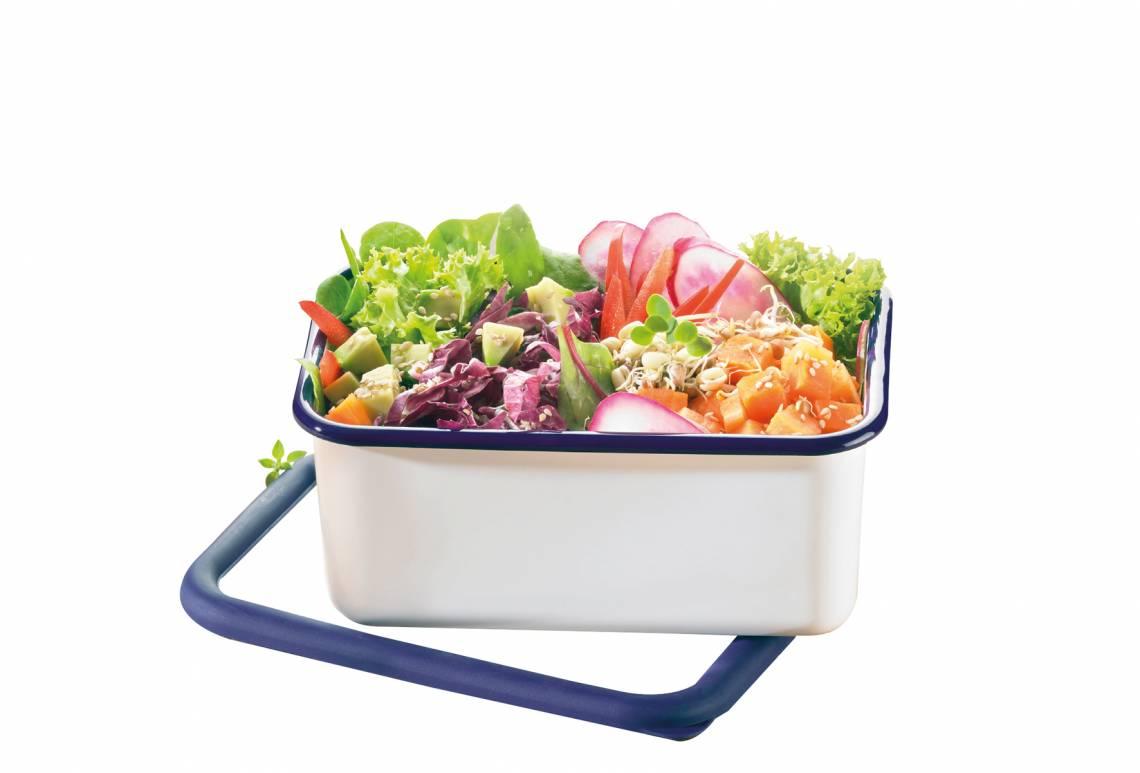 Honeyware - Frischhaltedose aus Emaille 1,9 Liter - Salat