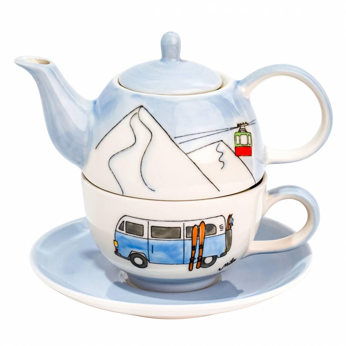 Mila-Design Tea for one. Motiv Skifahren -  99224