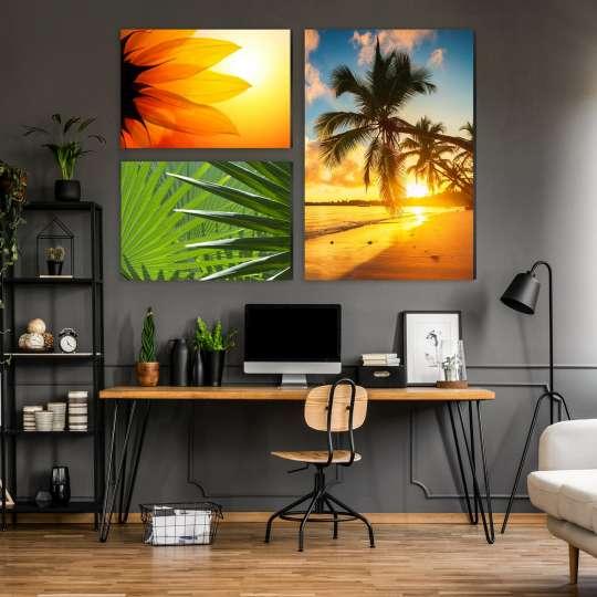 La-Melle Alu-Spannrahmen Bild über Schreibtisch