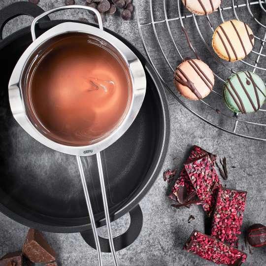 GEFU - Schmelzschale MELTO - Schokolade von oben