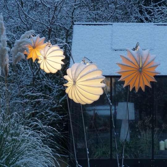 Barloon wetterfeste Lampions Winterdekoration
