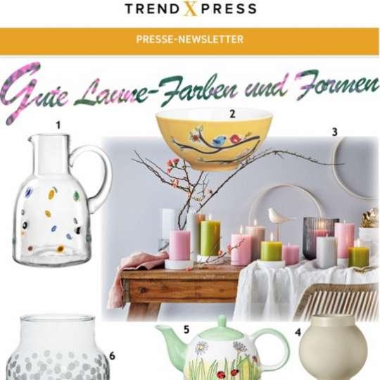 Sanfte Farben und Formen - Produktauswahl