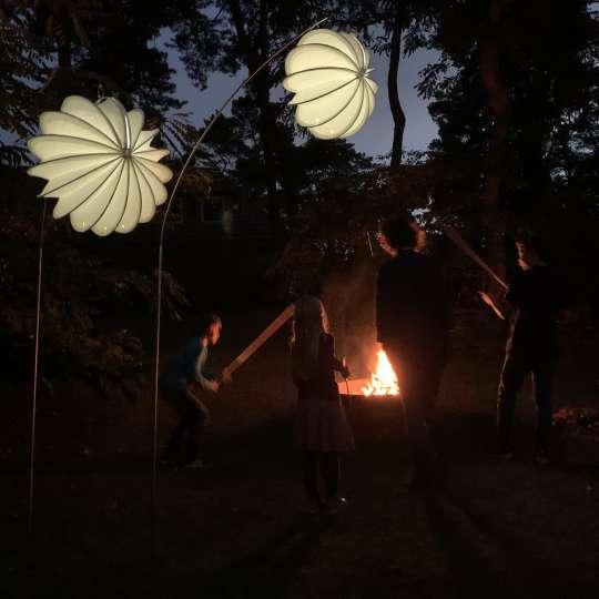Barloon wetterfeste Lampions - Abendstimmung mit Feuer