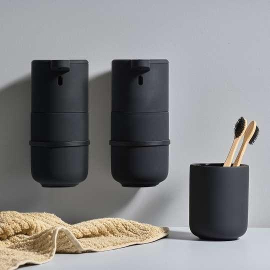 Zone Denmark – UME Seifenspender mit Sensor – mood schwarz mit Zahnputzbecher