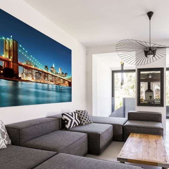 La-Melle Alu-Spannrahmen Bild über Sofa