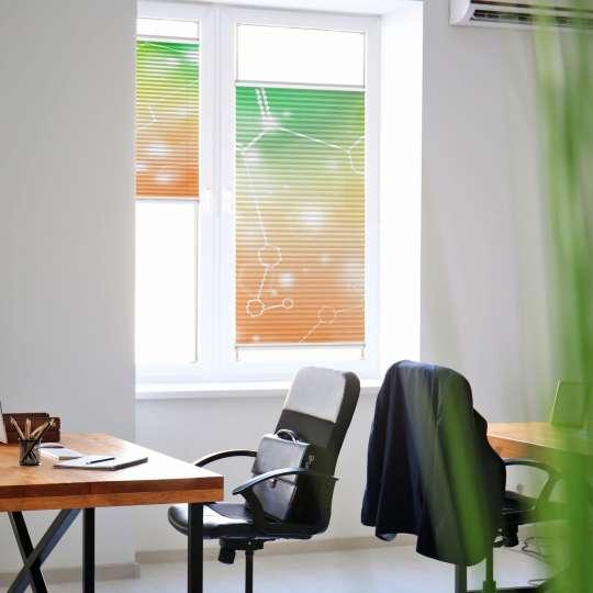 Bürofenster mit Plissee