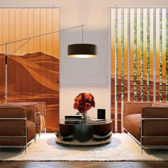 Lamellenvorhang Wohnzimmer Wüstenmotiv