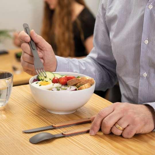 Akinod - Besteck Olivenholz Titan - Snack im Pausenraum