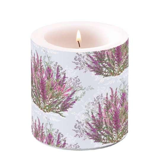 Ambiente - Calluna - Kerze klein, 7,5x7,5 cm
