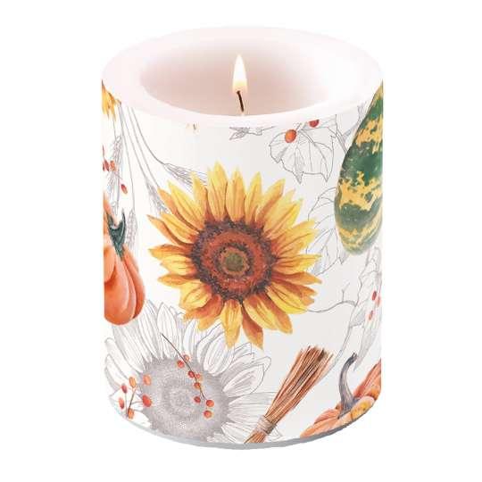 Ambiente - Pumpkins&Sunflowers - Kerze groß, 10x10 cm