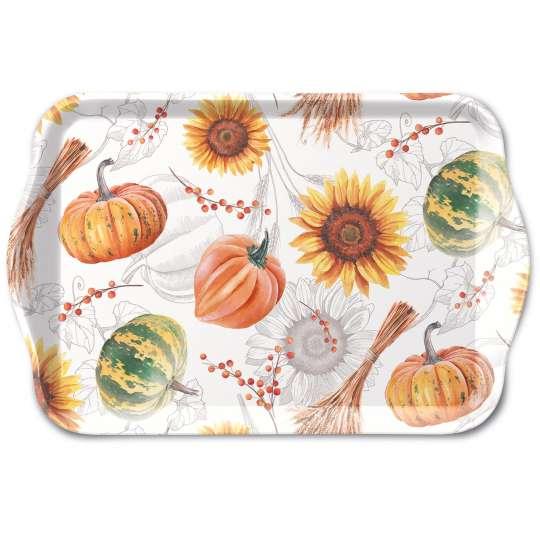 Ambiente - Pumpkins&Sunflowers - Tablett, Melamin, 13 x 21
