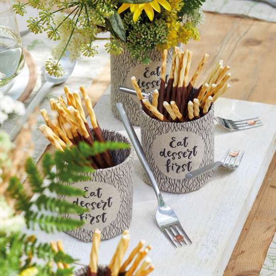 Ambiente - Recycled Paper - Eat dessert first DIY Tassen
