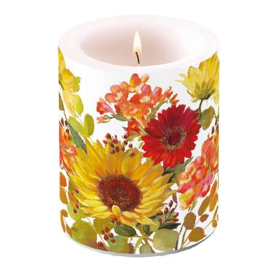 Ambiente Sunny Flowers Kerze groß