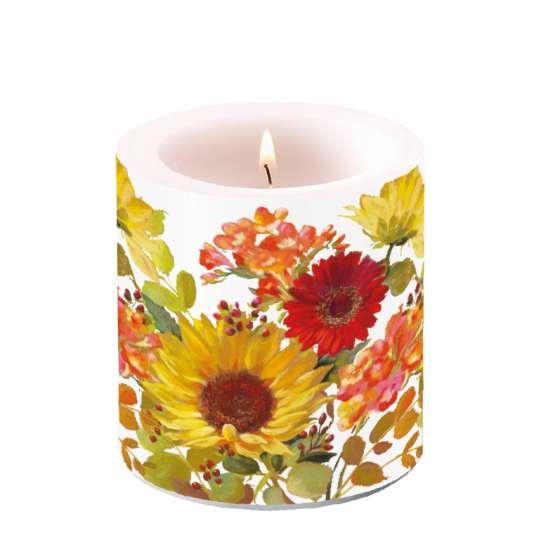 Ambiente Sunny Flowers Kerze klein
