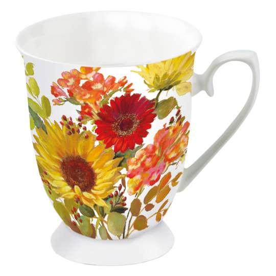Ambiente Sunny Flowers Henkelbecher 0,25 l