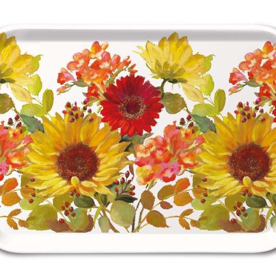 Ambiente Sunny Flowers Tablett 13x21
