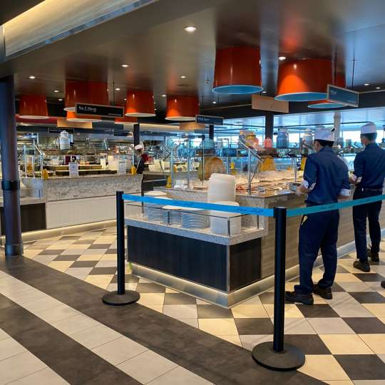 Anckelmannsplatz... Buffet mit Service