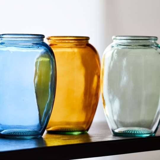 Bitz Kusintha Vasen aus recyceltem Glas
