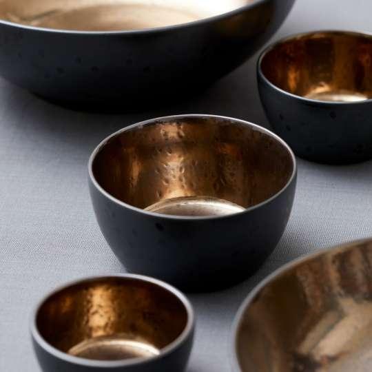 Bitz Bronze Schalen aus Steingut