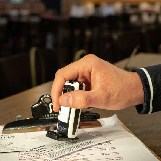 trodat - Kontaktdatenstempel PocketPrinty 9511 - Besucherregistrierung - Bar