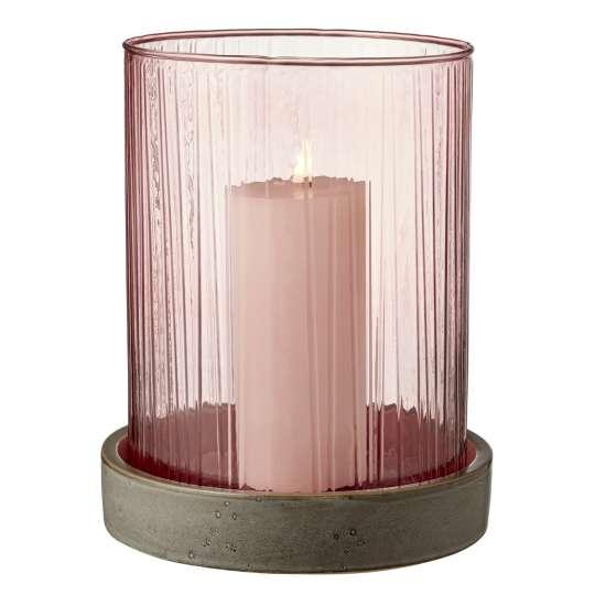 Bitz Vase / Windlicht Hurrican - rosa