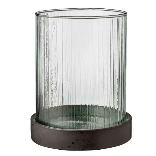 Bitz Vase / Windlicht Hurrican - grün