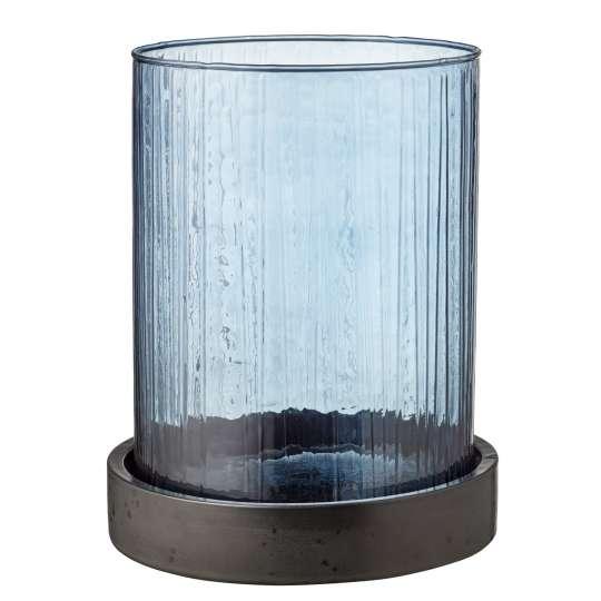 Bitz Vase / Windlicht Hurrican - blau