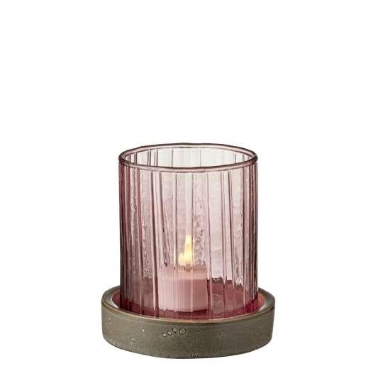 Bitz Windlicht Hurrican - rosa