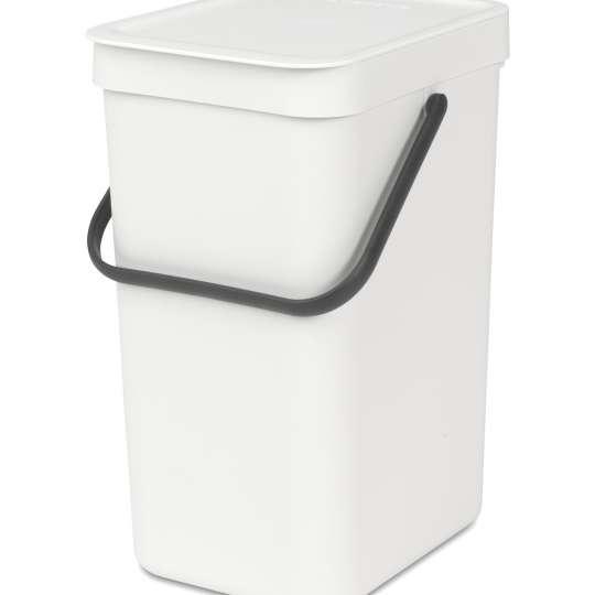 Brabantia Sort & Go Waste Bin, 12L - White