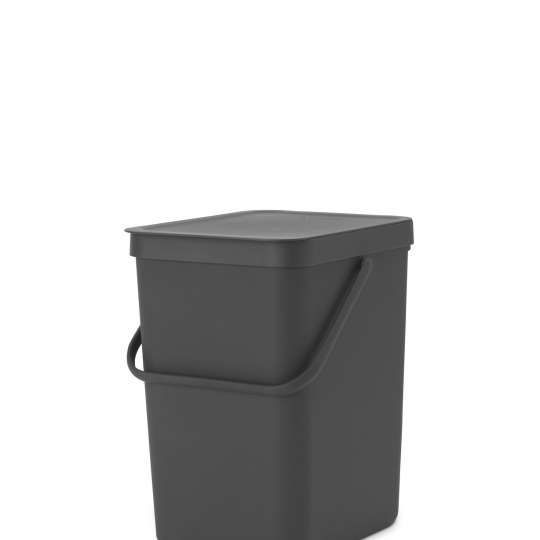 Brabantia Sort & Go Waste Bin, 25L - Grey