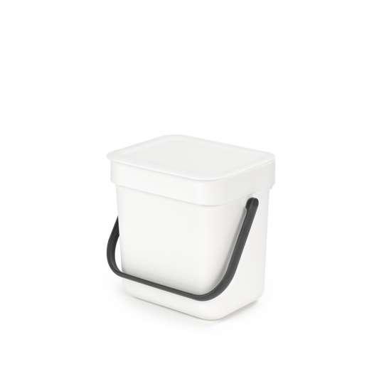 Brabantia Sort & Go Waste Bin, 3L - White