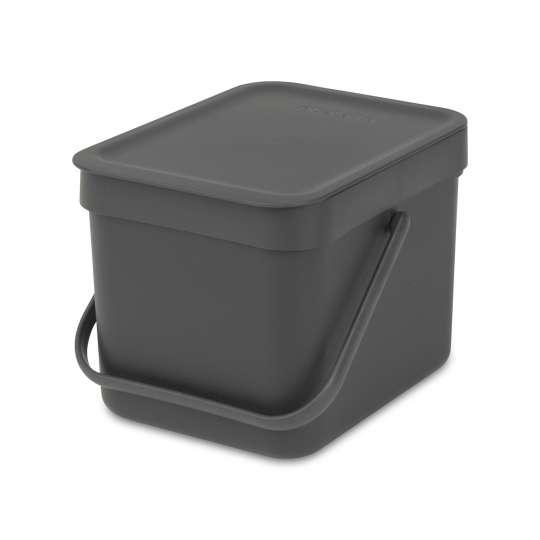 Brabantia Sort & Go Waste Bin, 6L - Grey