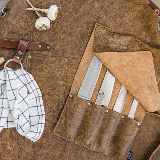 Brickwalls and Barricades The Premium Knife Pouch Messerbeutel Tan mood