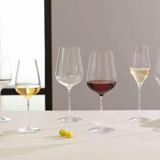 Leonardo - Brunelli Sekt, Rotwein und Riesling-Gläser