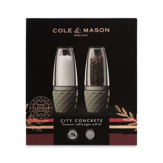 Cole & Mason - Salz- und Pfeffermühle - City Concrete - Set