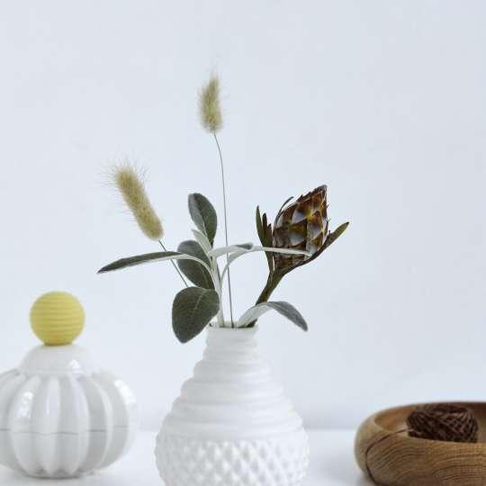 Dottir kleine Vasen in Weiß
