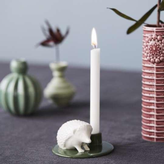 DOTTIR Geburtstagsg-Geschichten Keramik Kerzenleuchter 41x82 mm Igel Porzellan