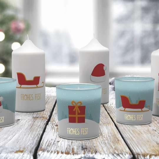 Winterlichter und Stumpenkerzen von Engels Kerzen
