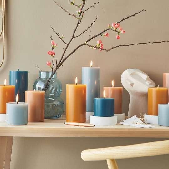 Engels Kerzen - Farbauswahl Kerzen - Blau, Brauntöne - Deko