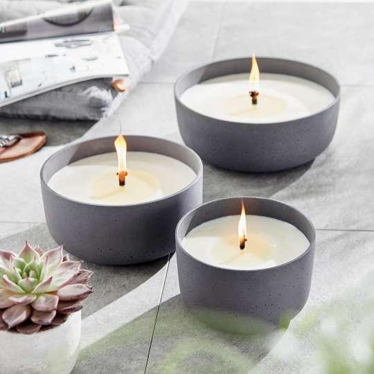 Engels Kerzen - MIA - Outdoor-Schalen - drei Größen