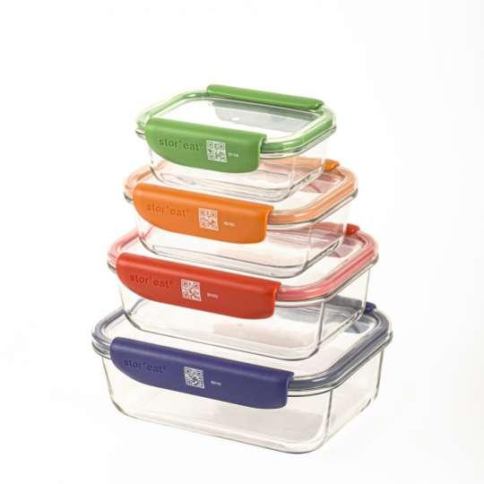 Mastrad Aufbewahrungsbox Set farbig sortiert F93054