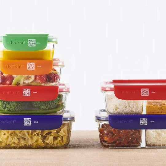 Mastrad Aufbewahrungsboxen geschlossen gestapelt farbig sortiert  F93xxx