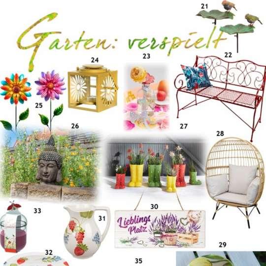 Garten verspielt Produktauswahl