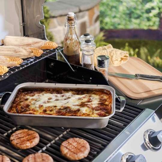 Char-Broil Grill+ Bratschale mit integriertem Holz-Schneidebrett