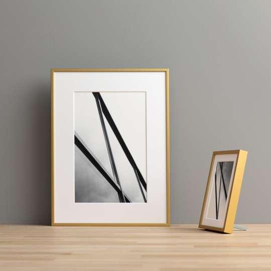Halbe-Rahmen - Ein goldfarbener Rahmen wertet ein Foto besonders auf