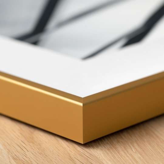 Halbe-Rahmen - Ein schmales goldenes Rahmenprofil ist zeitlos schön